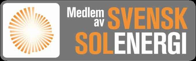 medlem av  branschföreningen Svensk solenergi